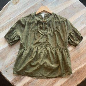 J. Crew Army Green Shirt